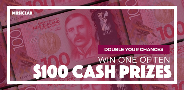 10 x $100 cash prizes! Double your chances with Musiclab!